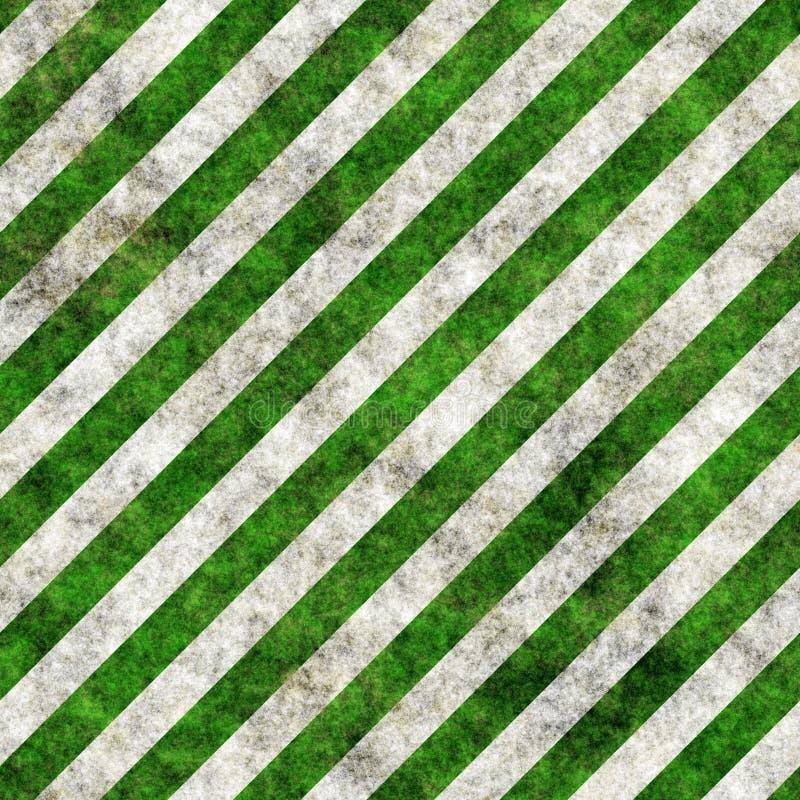 Green white grunge hazard stripes stock image