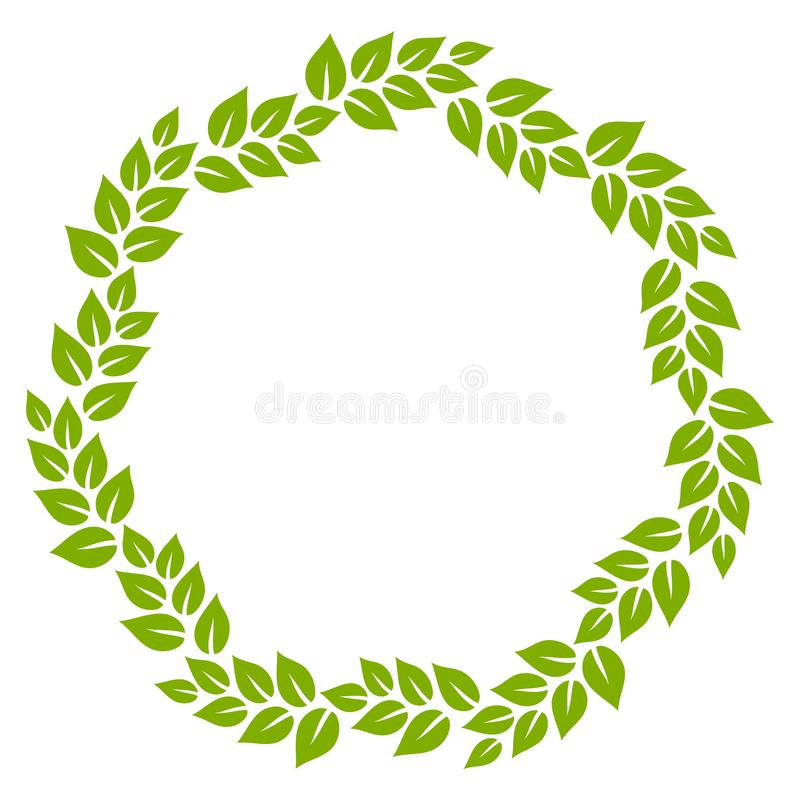 green and white leaves circle frame vector illustration stock rh dreamstime com vector leaves free download victor leaves yuuri