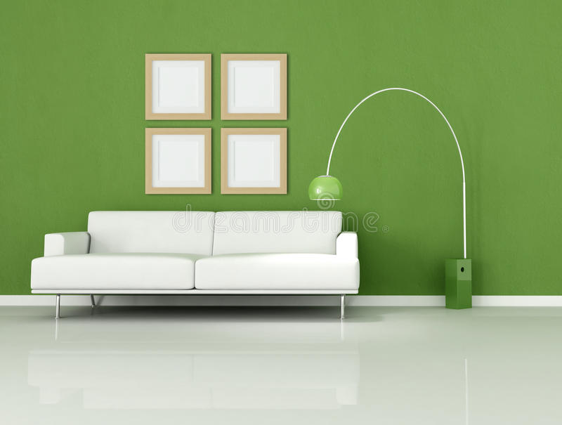 Download Green And White Minimal Living-room Royalty Free Stock Photo - Image: 9986365