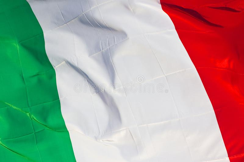 Green, white and red italian flag concept image stock images