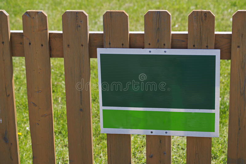Download Green White Sign Picket Fence Stock Image - Image of blank, british: 50431223
