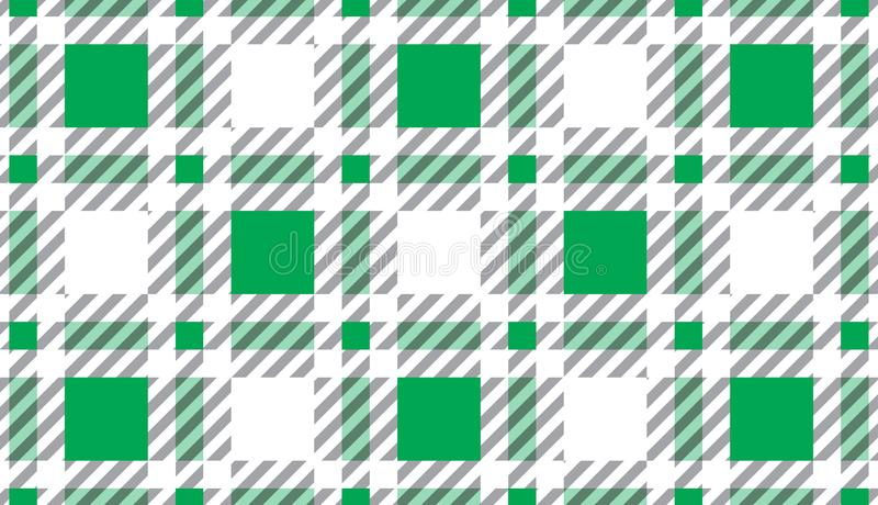 Green and white tartan plaid pattern.Texture for : plaid, tablecloths, clothes, shirts, dresses, paper, bedding, blankets, quilts vector illustration