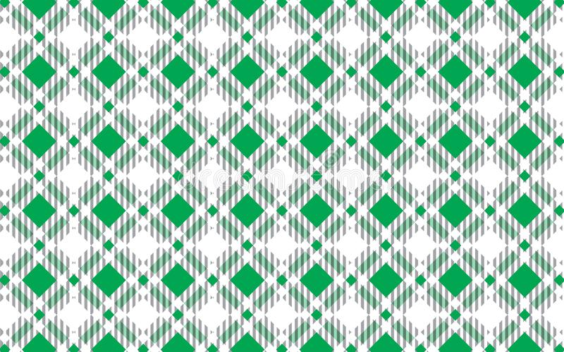 Green and white tartan plaid pattern.Texture for : plaid, tablecloths, clothes, shirts, dresses, paper, bedding, blankets, quilts stock illustration