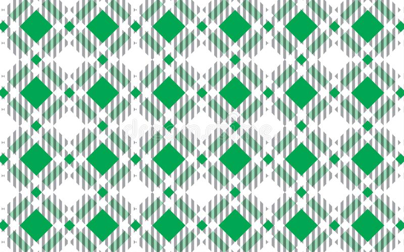 Green and white tartan plaid pattern.Texture for : plaid, tablecloths, clothes, shirts, dresses, paper, bedding, blankets, quilts royalty free illustration