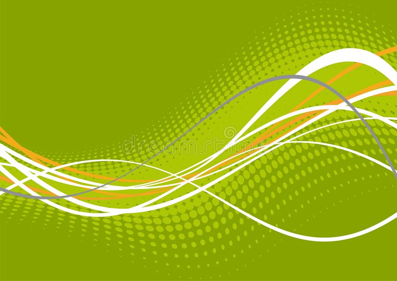 Green and white wavy lines royalty free illustration