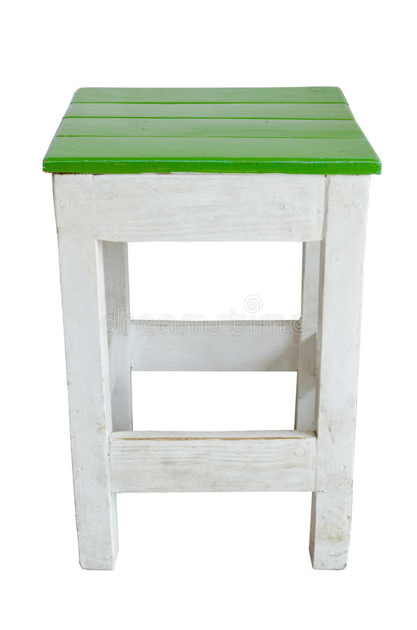 Green And White Wood Chair Stock Photos