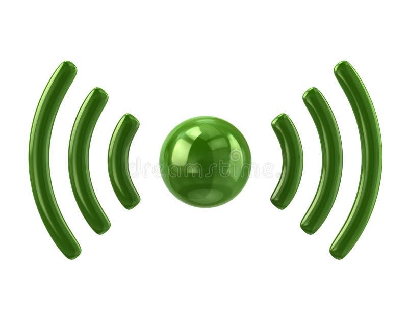Green wifi icon stock illustration