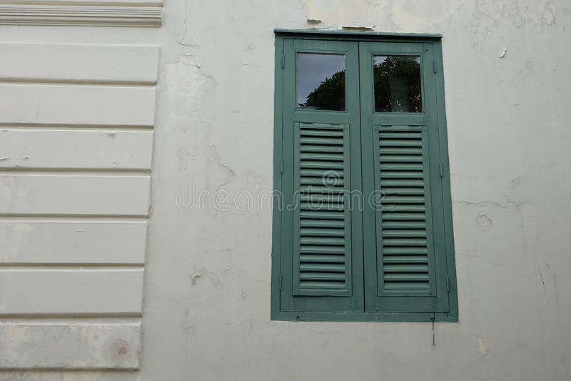 Green window royalty free stock photo