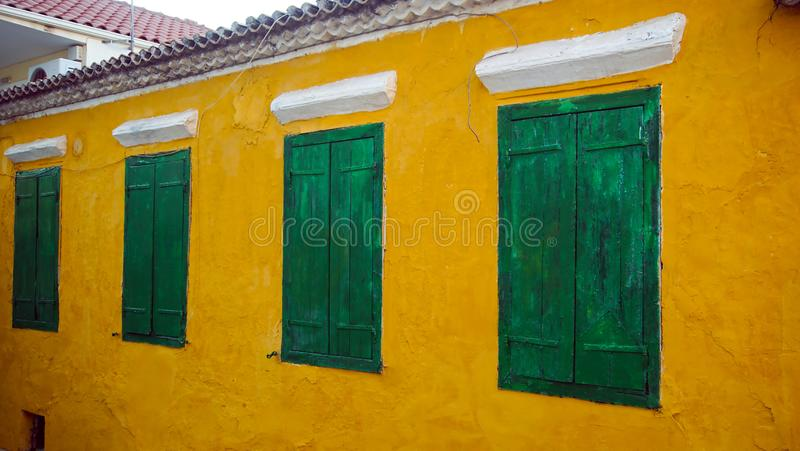 Download Green windows stock photo. Image of exterior, house, architectural - 99586842