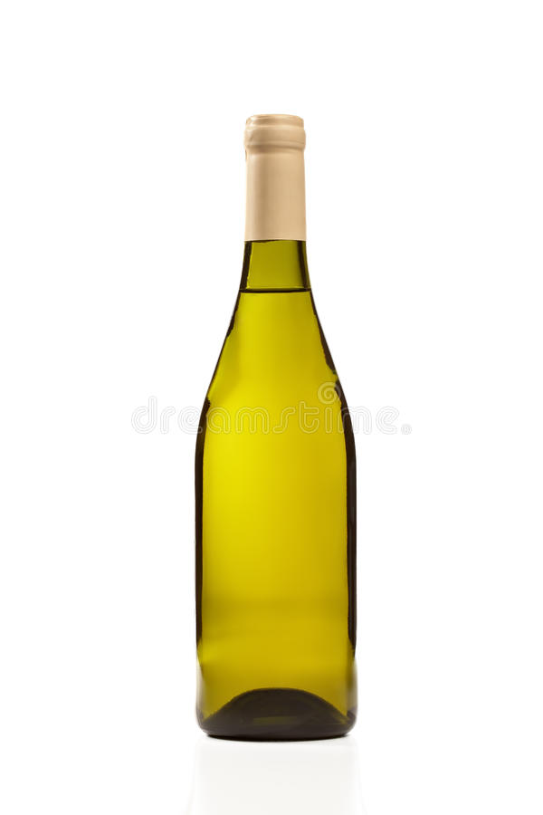 Free Green Wine Bottle Isolated Royalty Free Stock Photo - 11347535
