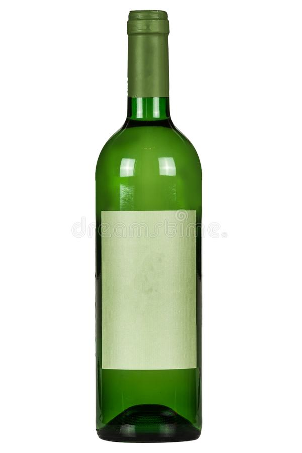 Free Green Wine Bottle On A White Background Royalty Free Stock Photo - 162466375