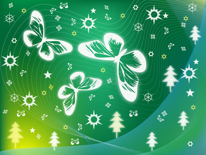 Green Winter Royalty Free Stock Photography