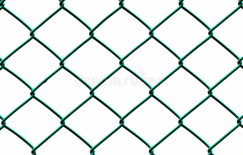 Green Wire Fence Isolated On White Background Stock Image - Image of ...