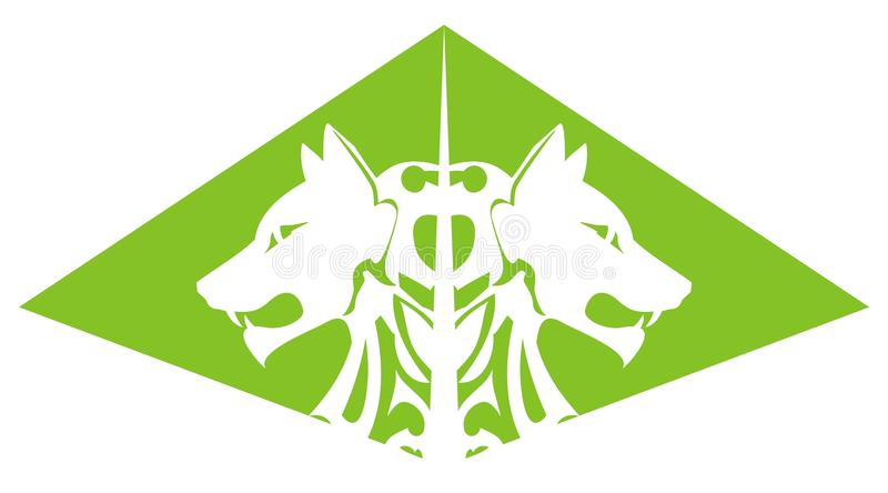 Download Green wolf pyramid stock vector. Image of furious, carnivore - 31316559