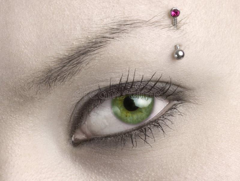 Green woman eye royalty free stock photos
