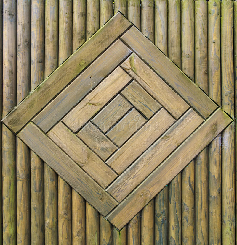 Green wood fence pattern royalty free stock image