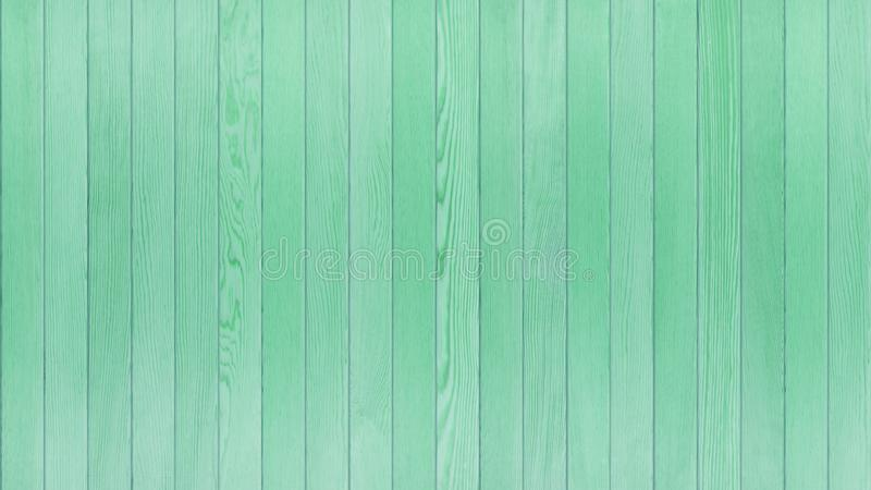 Green Wood Table , Wood Texture Background Top View 16:9 Ratio stock image