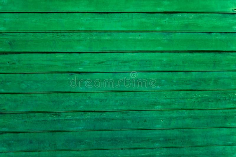 Green wooden background. Horizontal boards. Wood texture royalty free stock photos