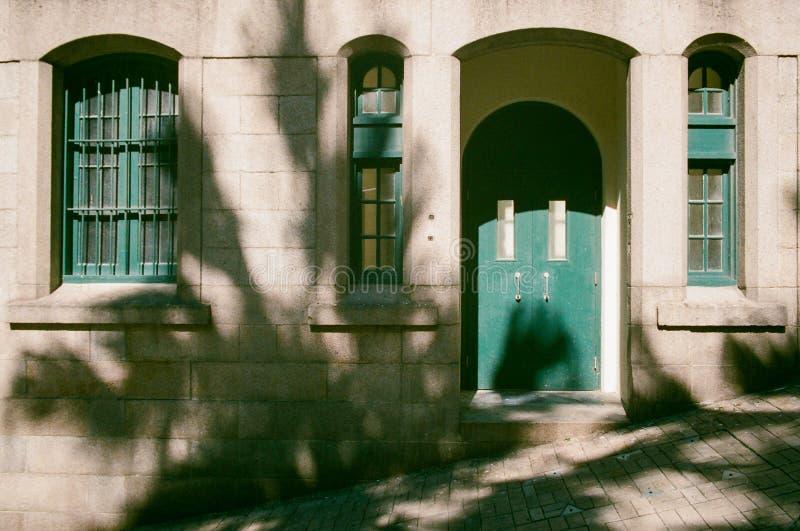 Green Wooden Door stock images