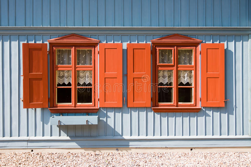 Download Green wooden house in Lodz stock image. Image of white - 25752539
