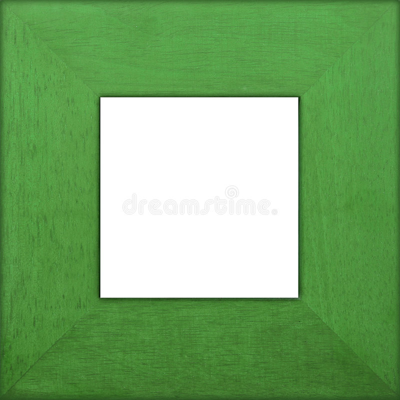Green Wooden Square Frame stock image