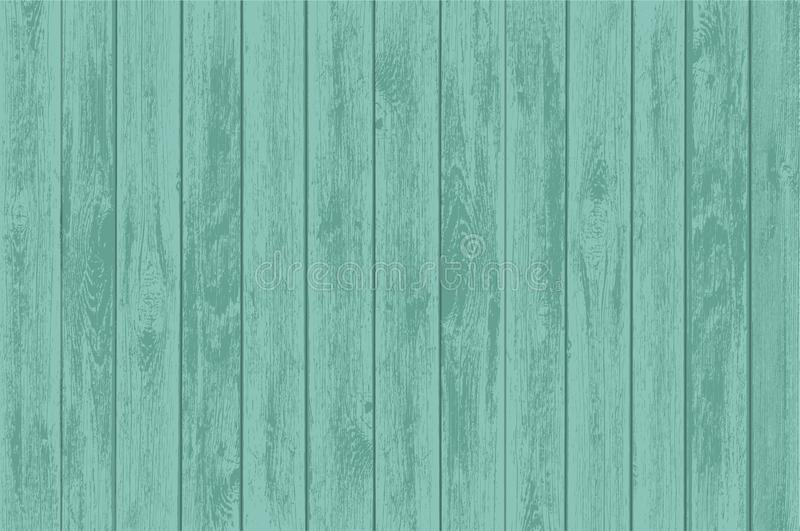 Green wooden table panels. Old background of the timber. Stock vector illustration royalty free illustration