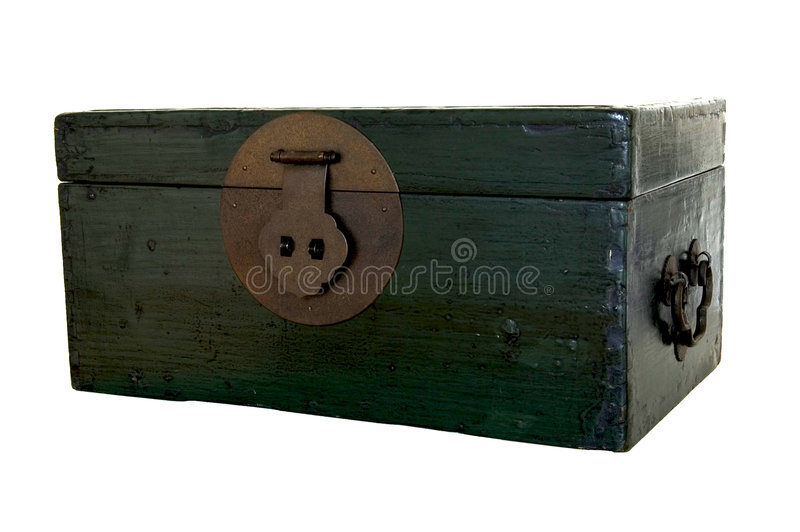 Green Wooden Trunk Stock Images