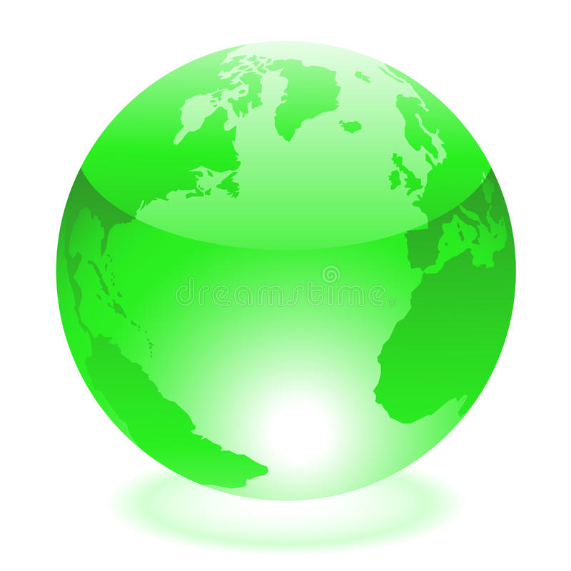 Green world royalty free illustration