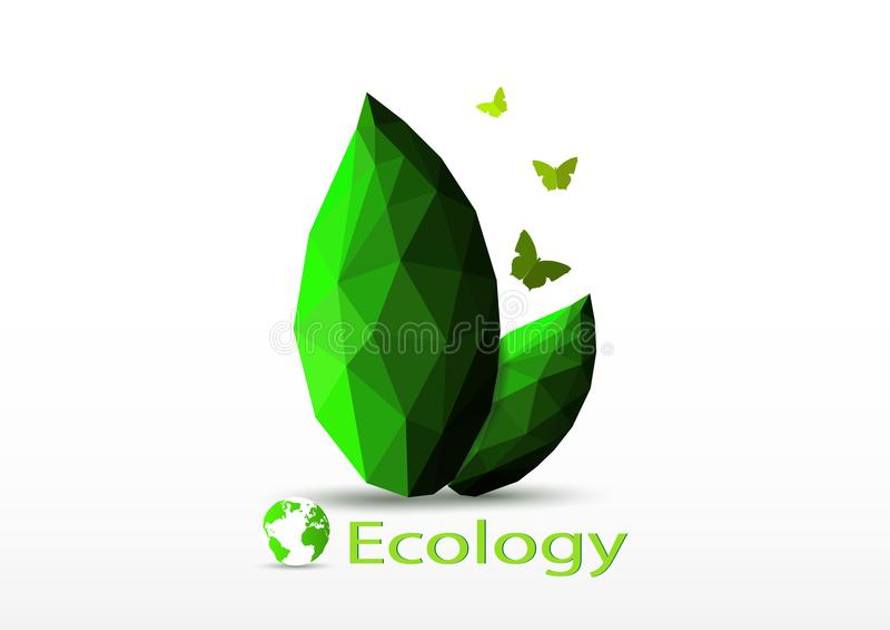 Green world ecology environmental concept royalty free illustration