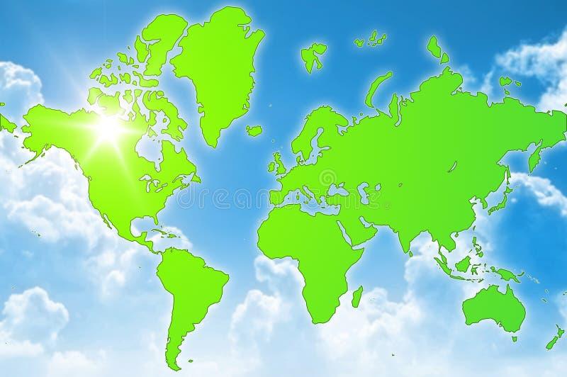 Download Green world environment stock illustration. Image of worldmap - 5241410