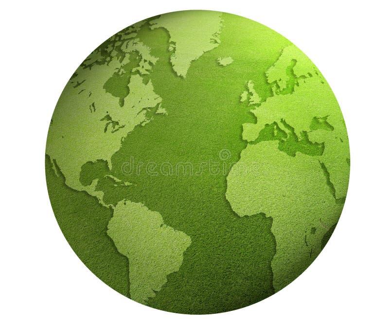 Green world globe stock illustration