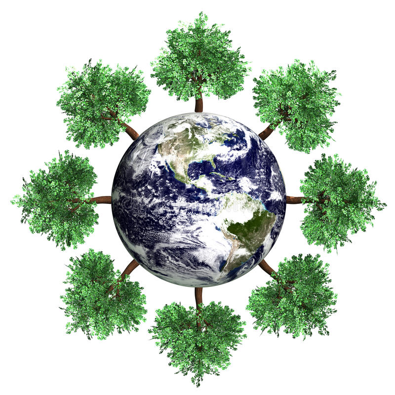 Download Green World stock illustration. Image of atmosphere, globe - 32312593