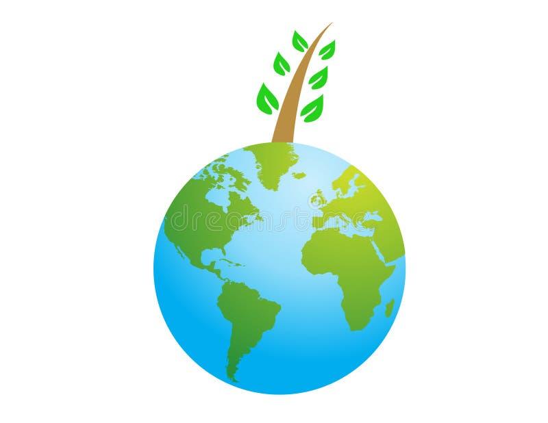 Green world vector illustration stock photography