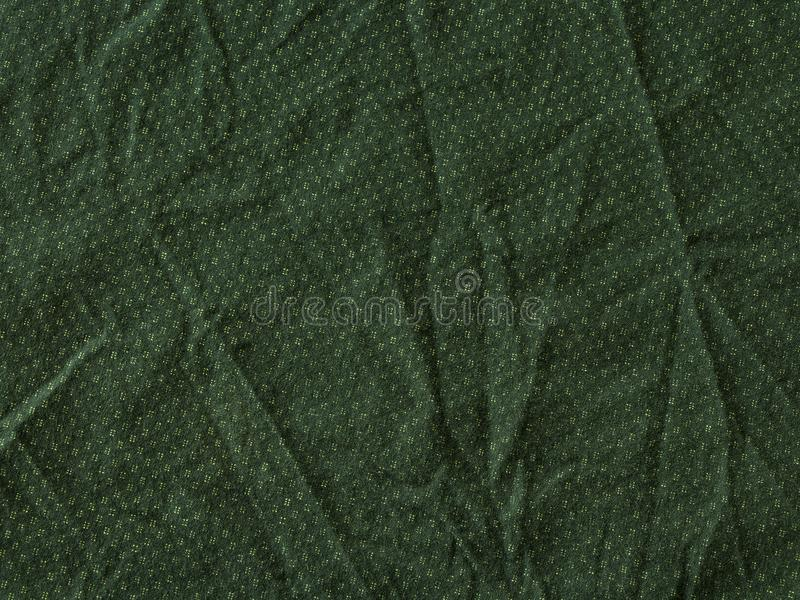 Green wrinkled fabric texture background royalty free stock image