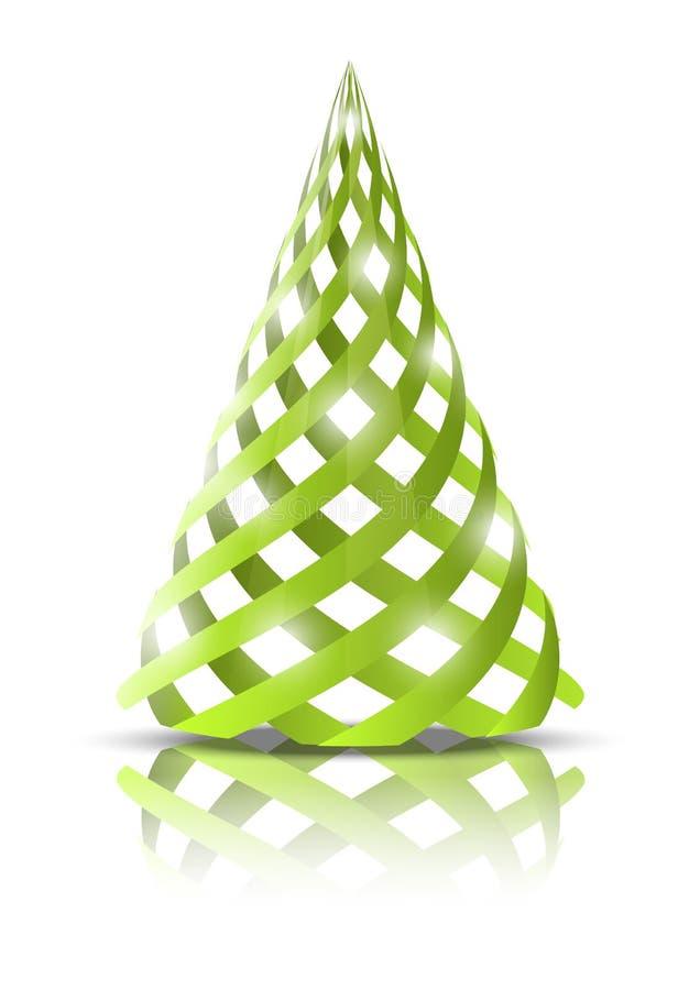 Download Green Xmas tree stock vector. Illustration of icon, celebrate - 26384426