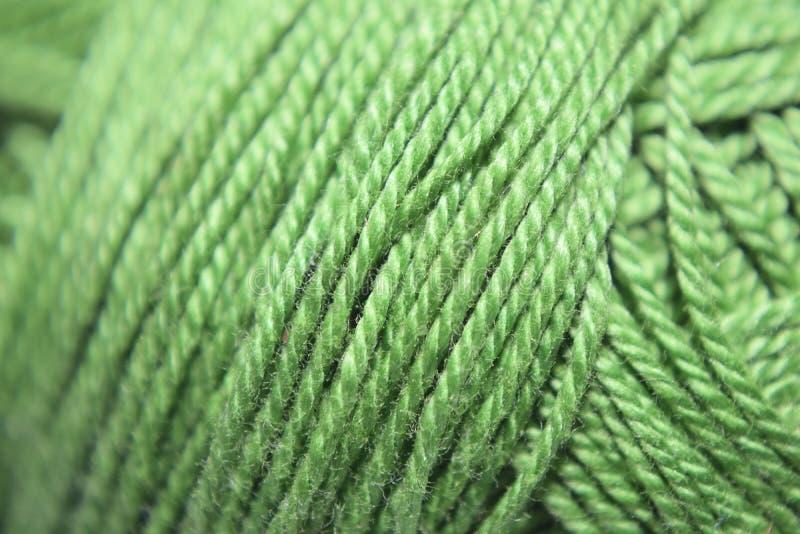 Green yarn royalty free stock image