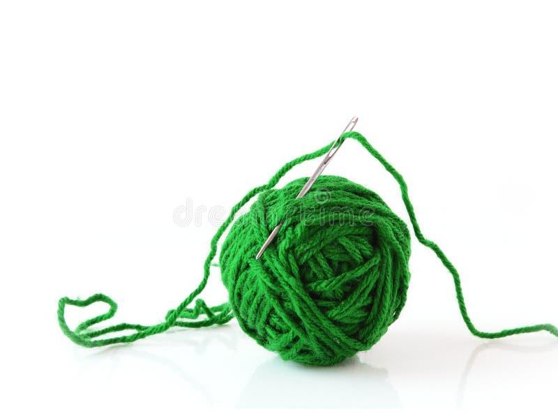 Green Yarn and Needle