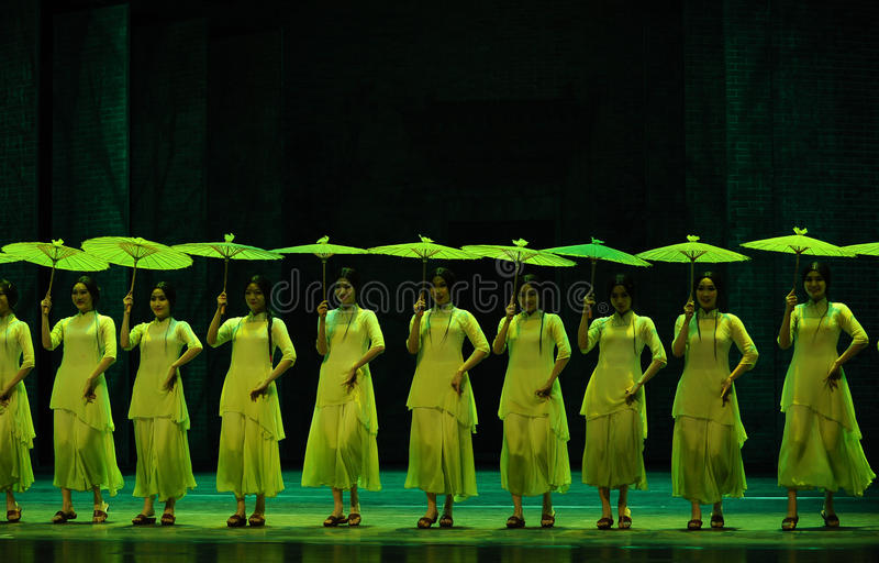 Green years-The second act of dance drama-Shawan events of the past. Guangdong Shawan Town is the hometown of ballet music, the past focuses on the historical royalty free stock images