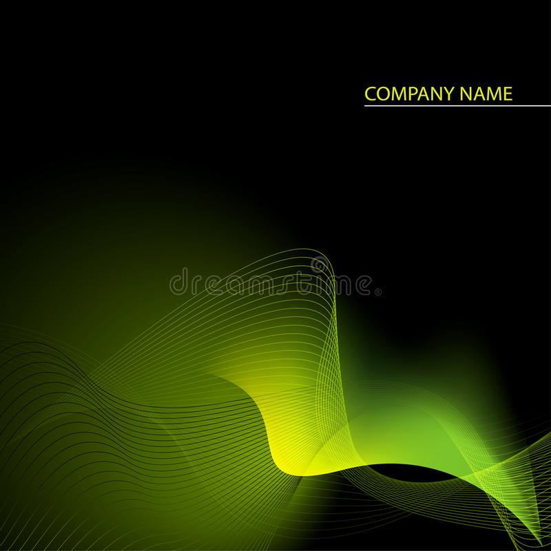 Free Green, Yellow And Black Abstract Background Stock Image - 13493591