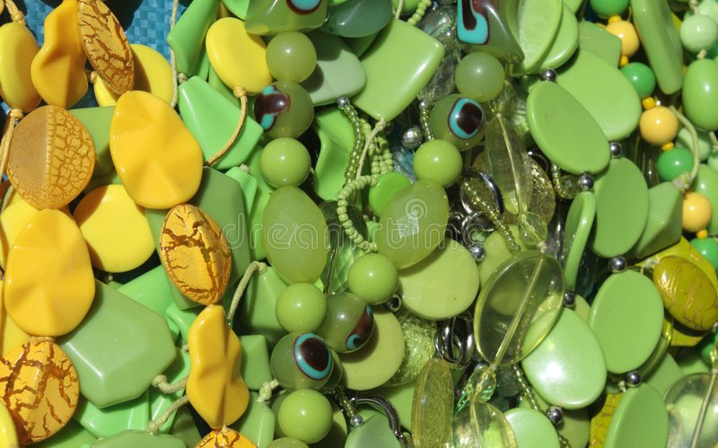 Download Green And Yellow Beads Royalty Free Stock Photos - Image: 6499608