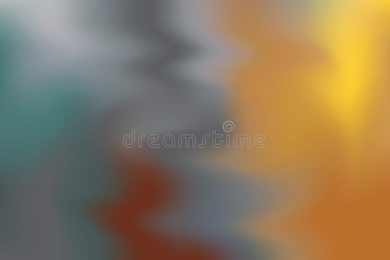 Green yellow brown soft color mixed background painting art pastel abstract, colorful art wallpaper vector illustration