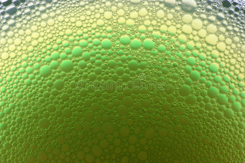 Green and yellow bubbles stock photography