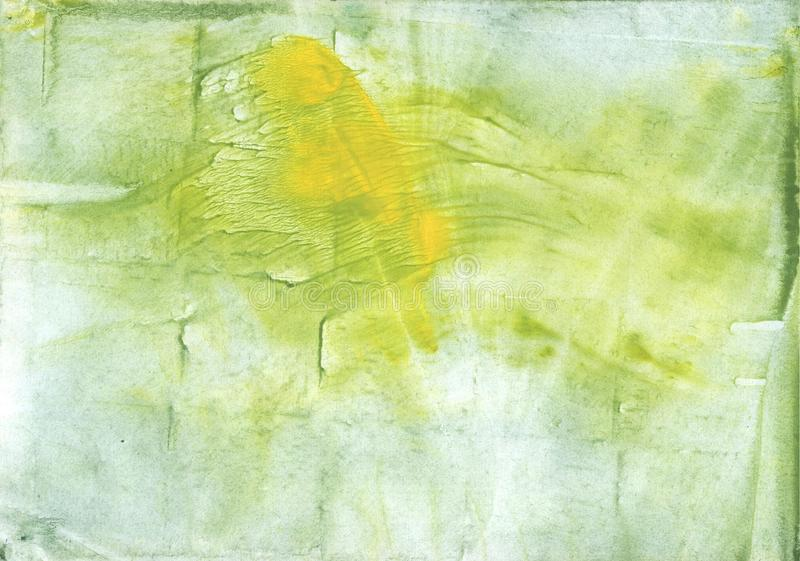 Green Yellow colorful watercolor texture stock illustration
