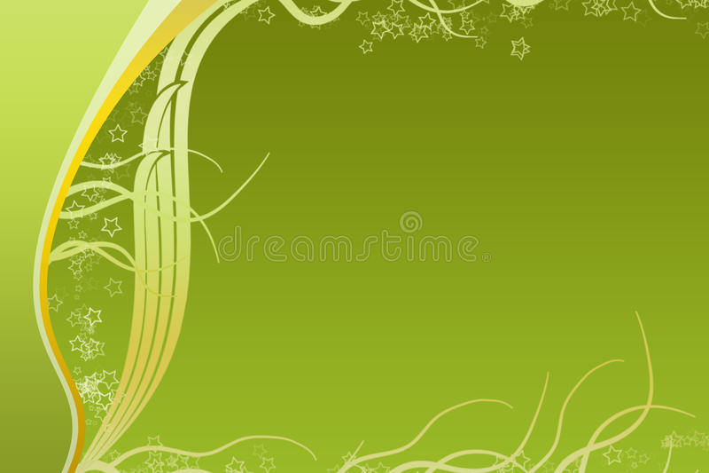 Green And Yellow Curve Strips Royalty Free Stock Photos