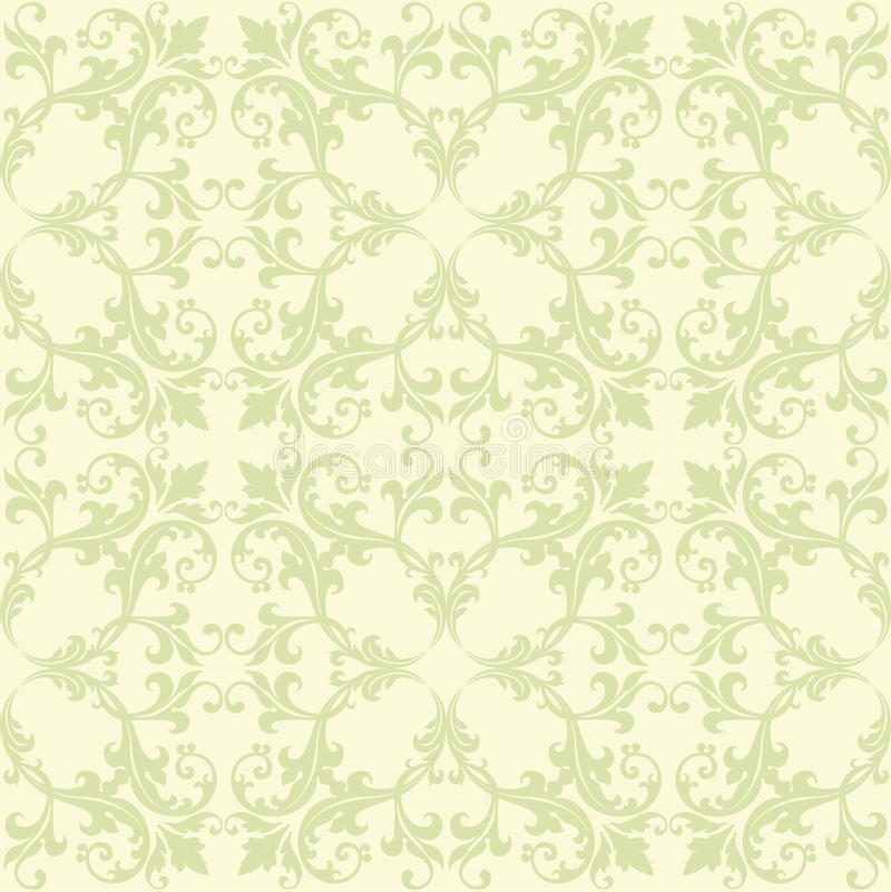 Download Green And Yellow Damask stock vector. Image of fill, scrollwork - 12645049