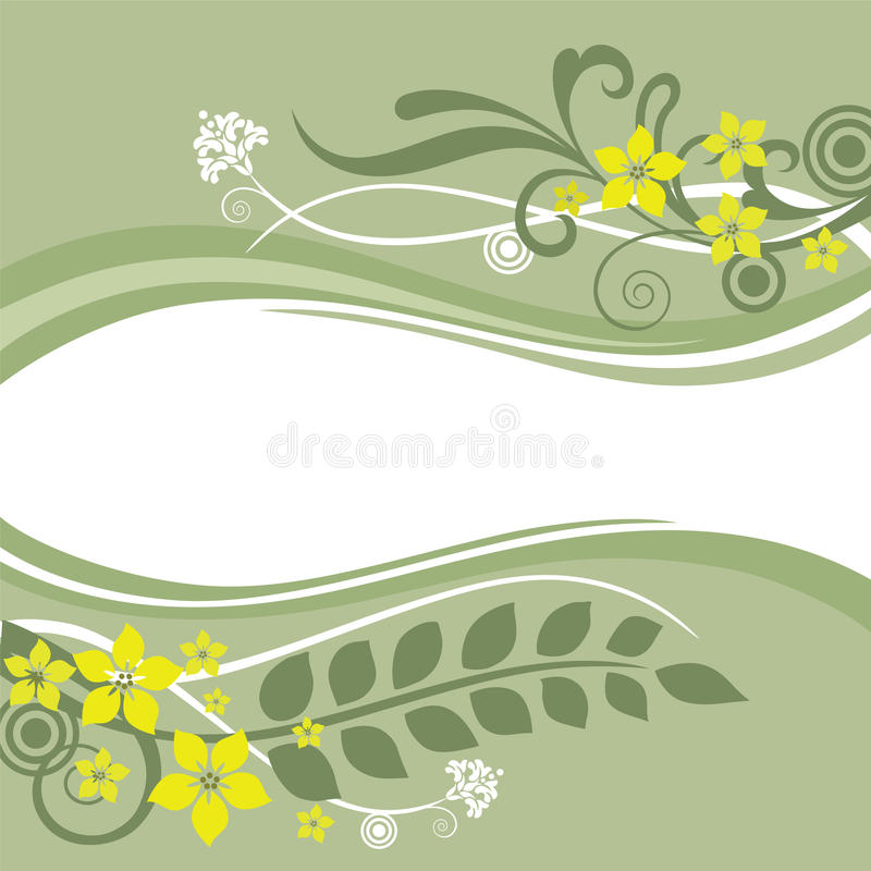 Download Green And Yellow Floral Borders Stock Vector - Illustration of decor, flowering: 13854376