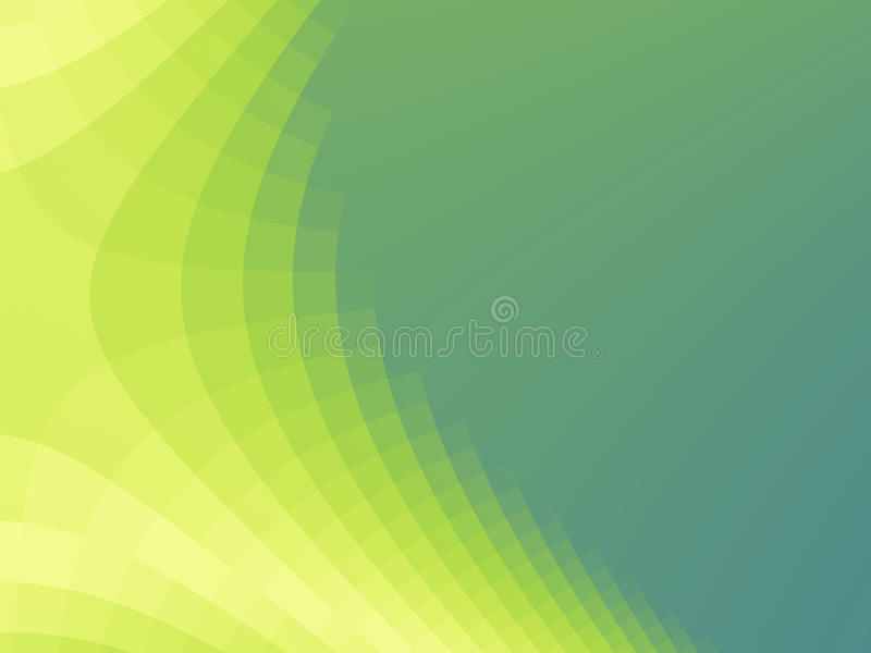 Green and yellow fractal background with hyperbola curve and pixelated effect royalty free illustration
