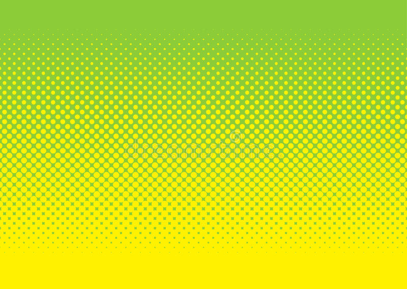 Green and yellow halftone pattern royalty free illustration