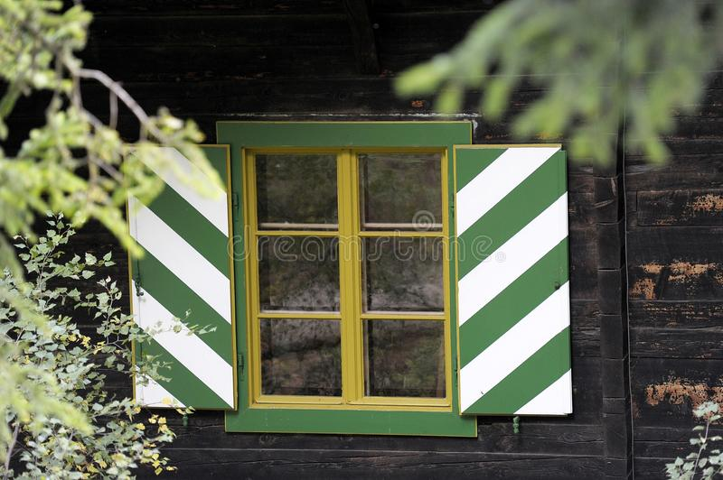 Green, Yellow, House, Window royalty free stock images