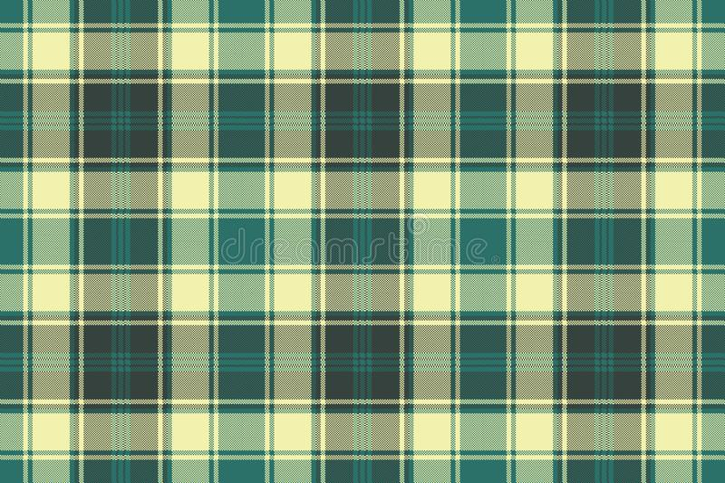 Green yellow plaid check pixel seamless pattern stock illustration